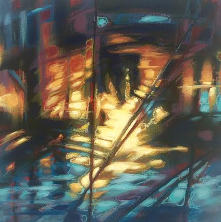 Under the bridge II 18x18""