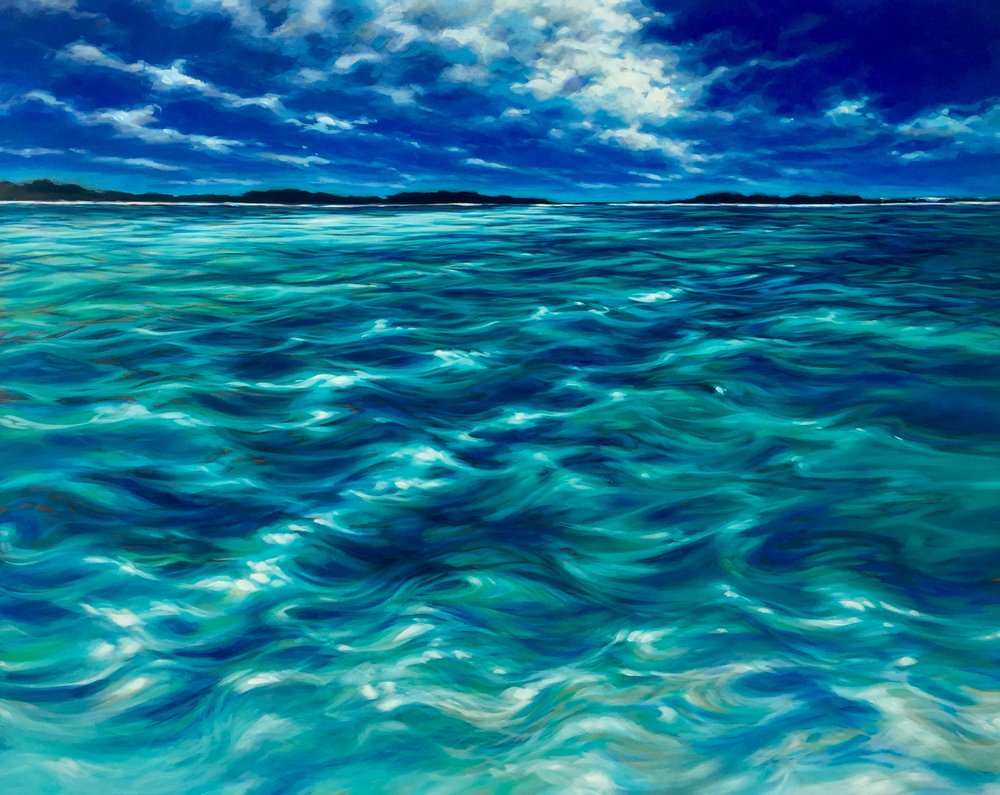 Convergence of blues 48x60""