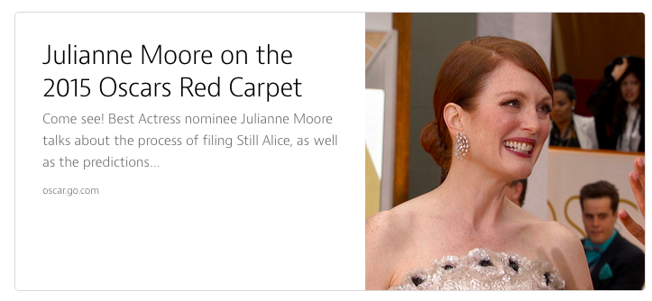 Julianne Moore used her spotlight to draw attention to Alzheimers' disease.