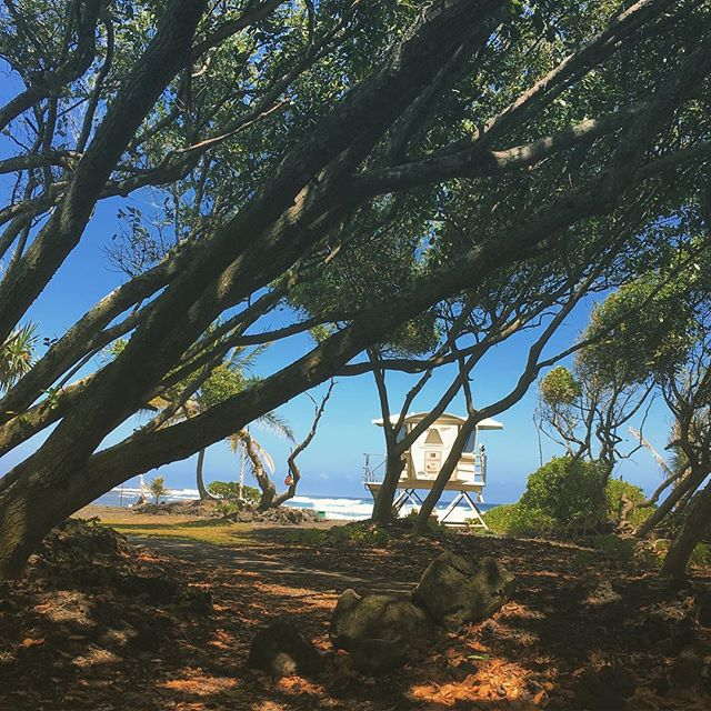 #pohiki #beach #bigisland #lazy #afternoon #wander #volcano #coast #redroad #surf #lifeguard #space #station