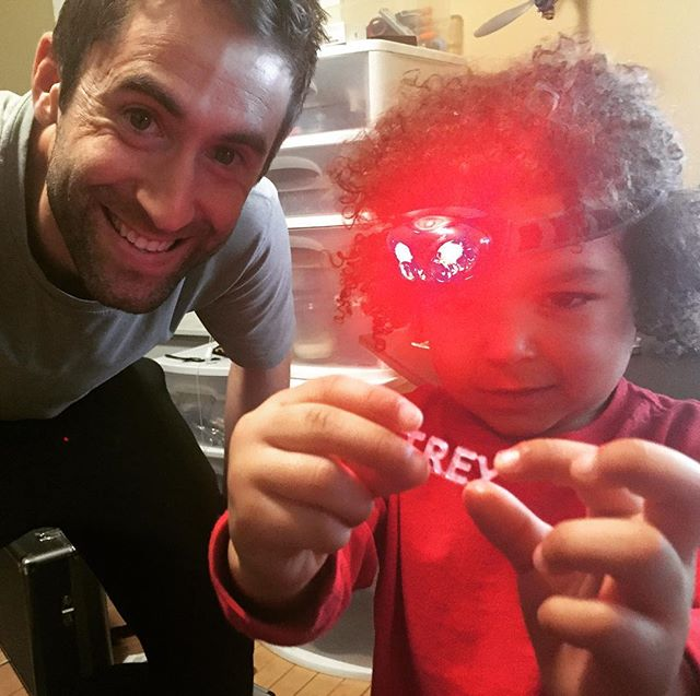 #headlamp #3dprinting #learning #ninjaoffice #milwaukee #tech #workshop #engineer #training #nephew #technology #developer #science #experiment #nerd #fun