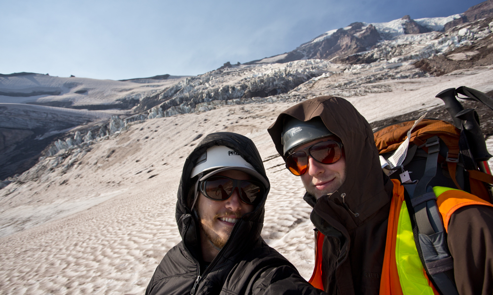 Don and Eric on the Nisqually Glacier at Mt. Rainier