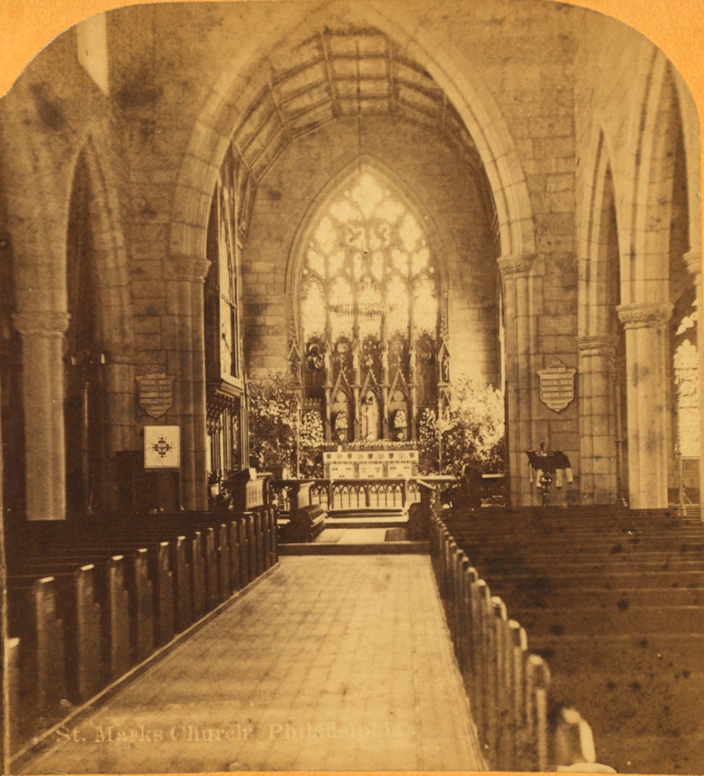 Saint Mark's in 1876, sans Rood Beam.