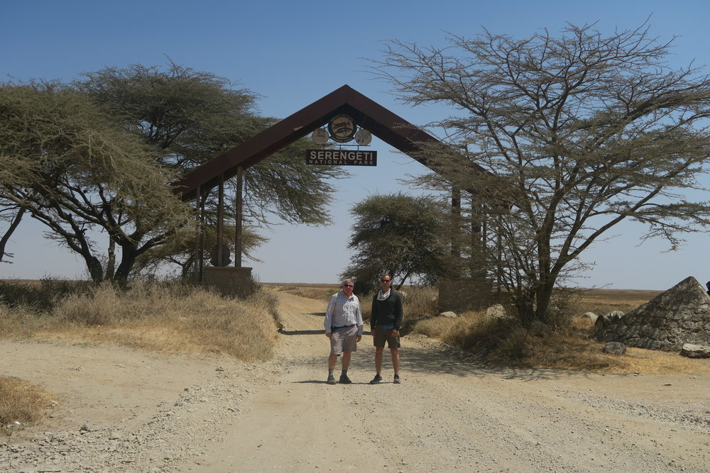 At the entrance to the Serengeti National Park