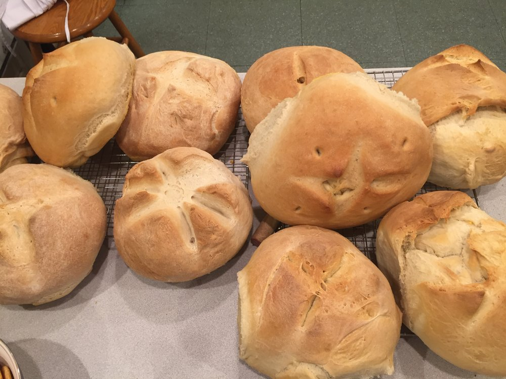 Bread baked by the Zoe Project team in the Rectory