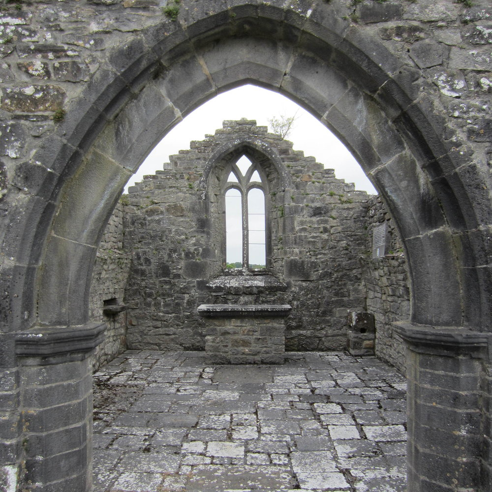 The Lady Chapel in the ruins of Kilcorban Abbey, County Galway