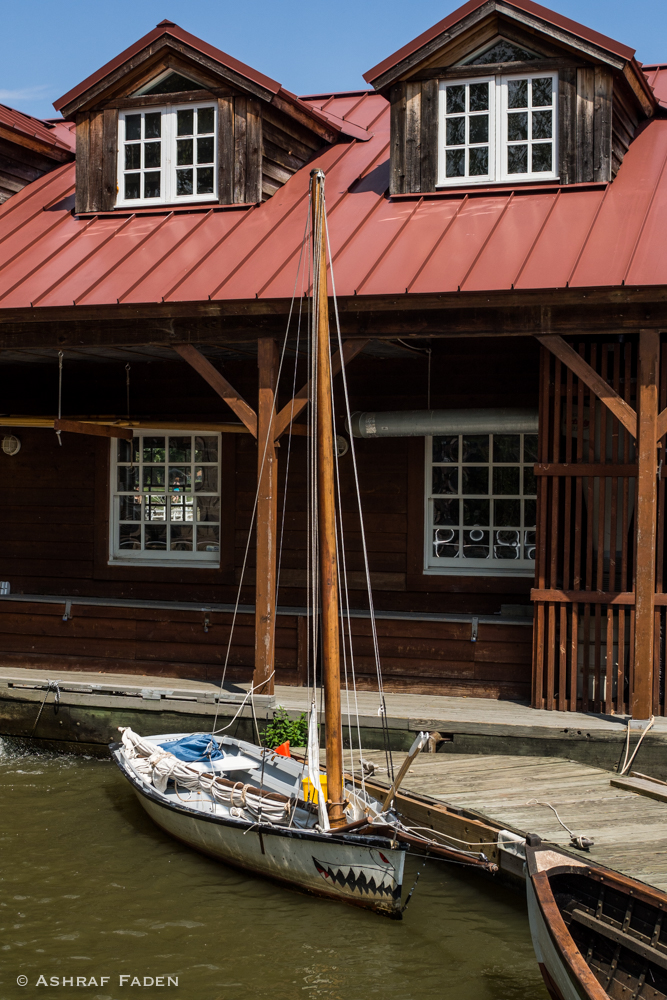 This is a mini boat house.