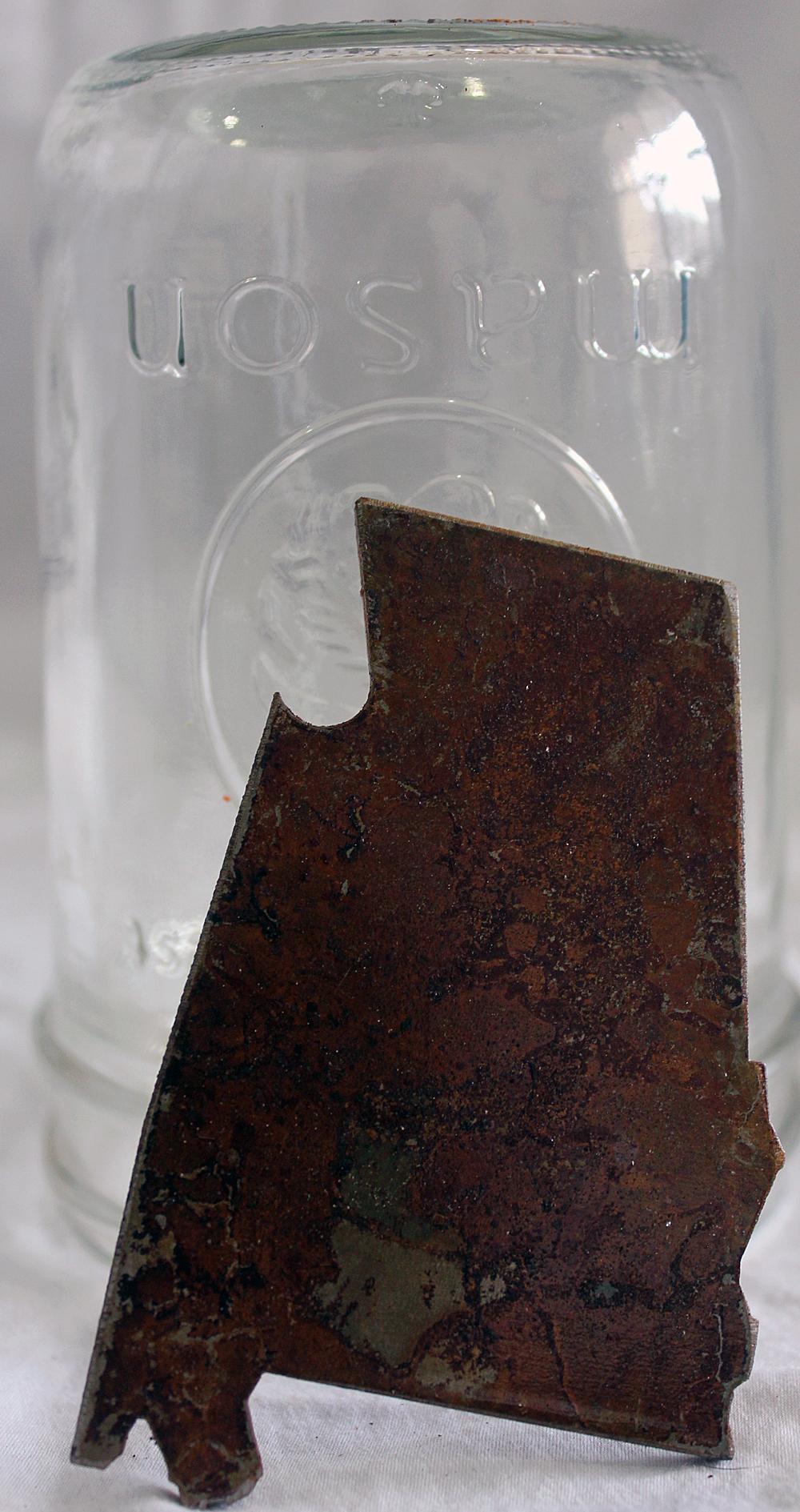 Reclaimed Steel Alabama Bottle Opener