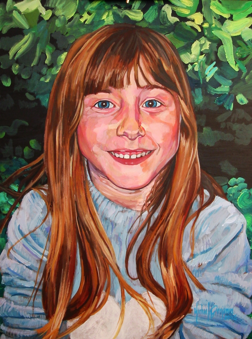"Rachel   Acrylic on Masonite  - 18"" x 24"" - 2005"