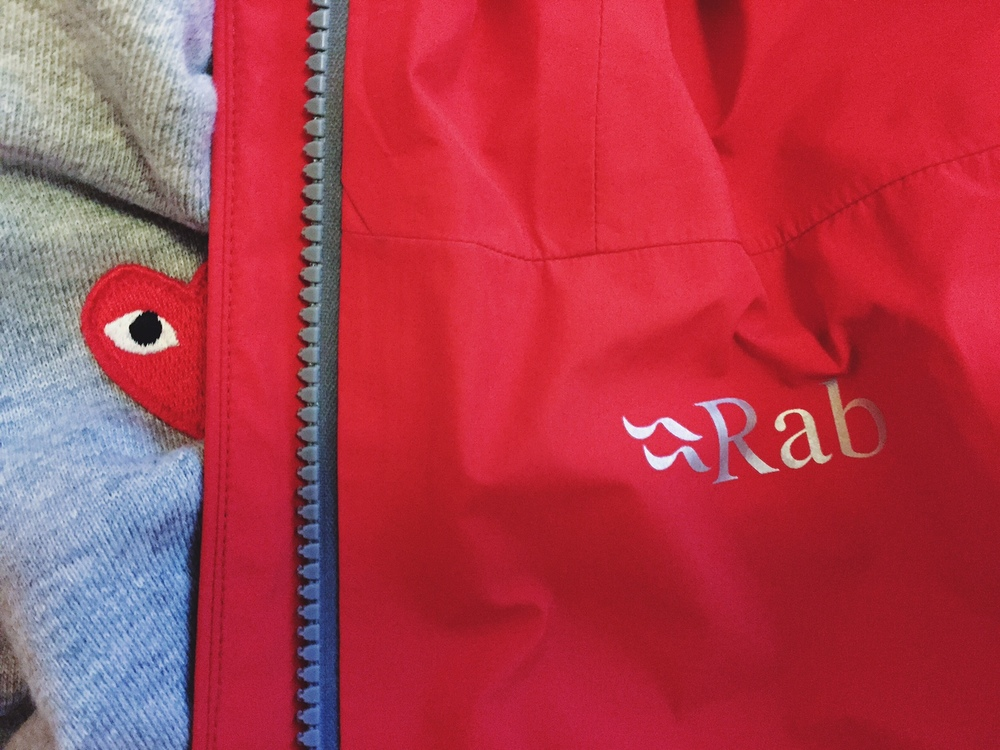 Winter warmers, Rab Latok x Comme Des Garcon PLAY