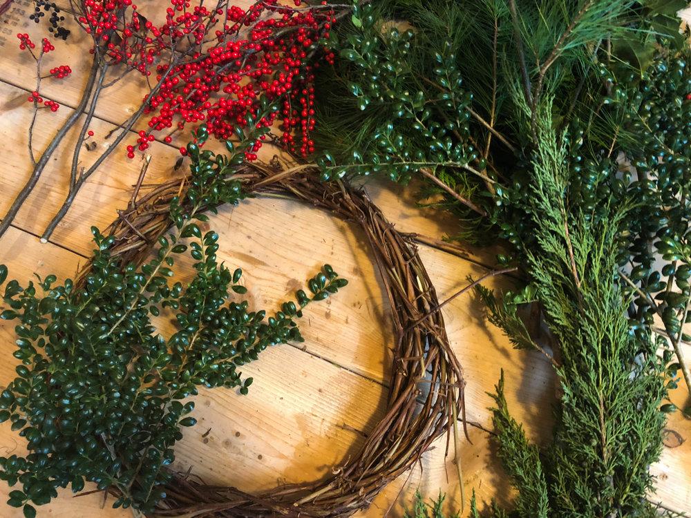wreath materials