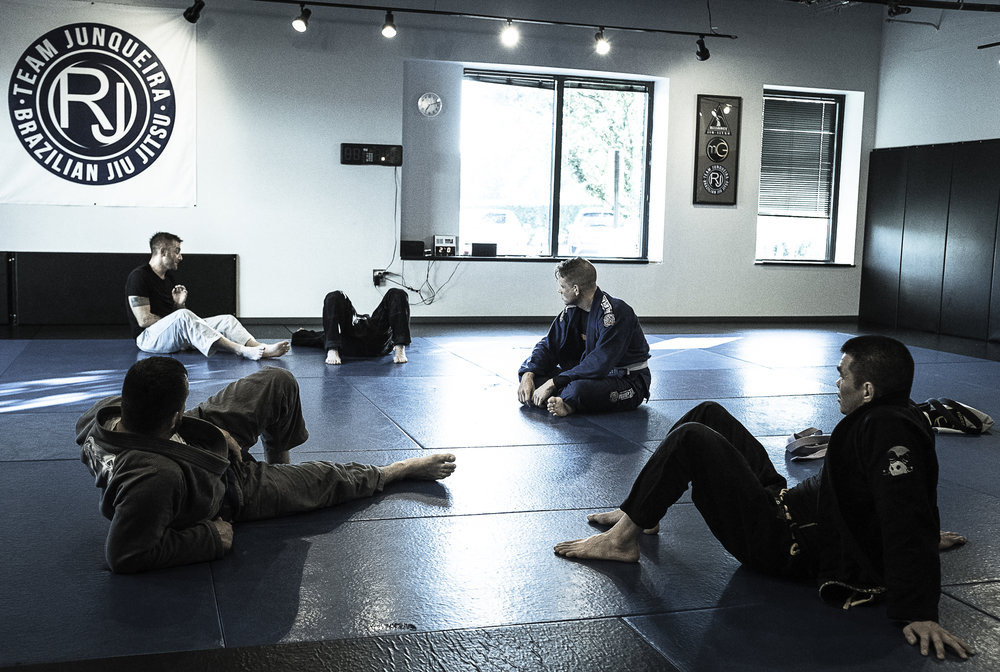 Filip, Tom, Jim, and Josh getting instruction from Josh B.