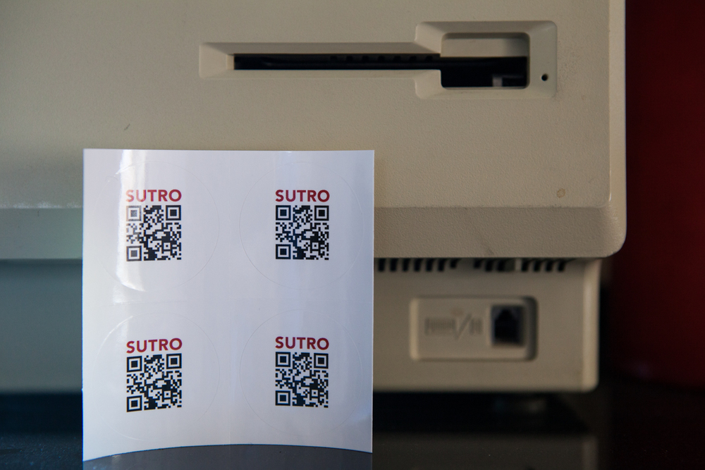 Sutro Stickers with QR codes