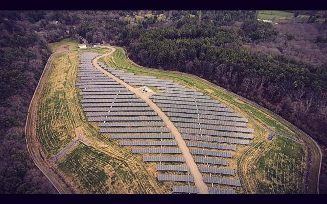 Straight from our drone footage in the main solar array.