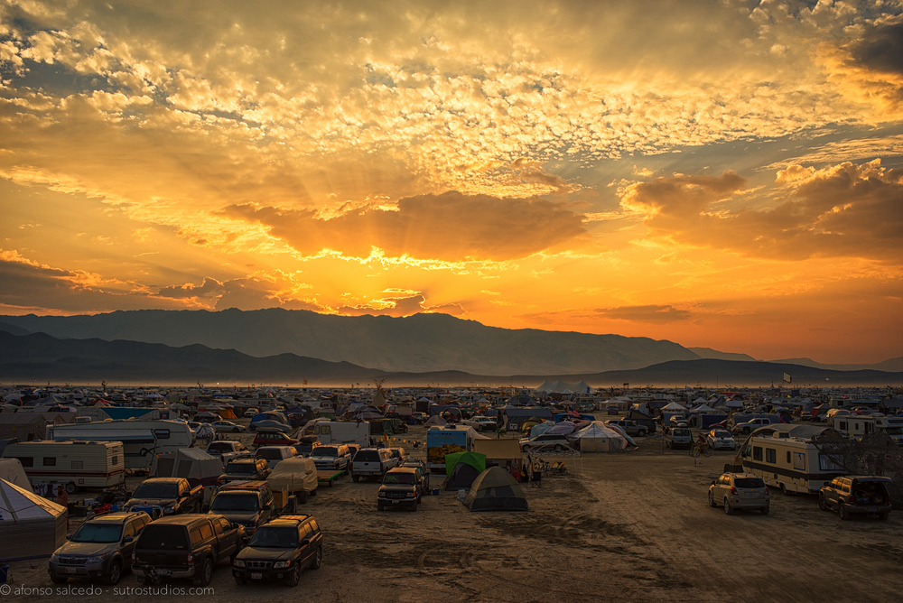 One of the many incredible sunsets at Burning Man.