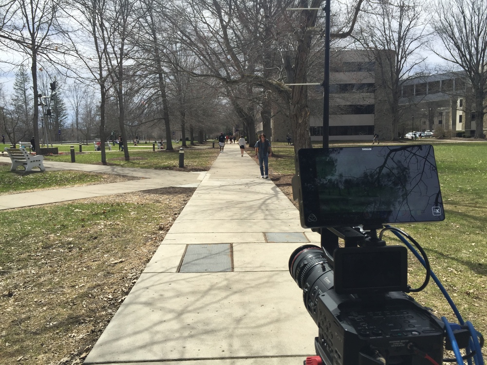 The campus of Houghton College is perfect to film.