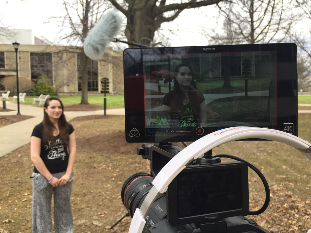 Atomos Shogun quickly became our favorite tool in production. That microphone is pretty incredible too, especially for outdoor environments.