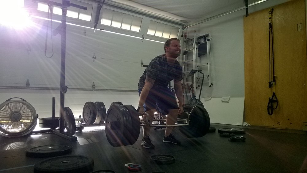 Kyle crushing a PR on trap bar deadlifts :)
