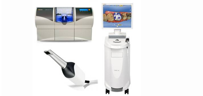 This scanner and milling machine are used to design and mill your porcelain crown while you wait in the chair.