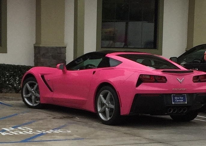 Who doesn't want to ride in this car? But you have to ask Angelyne first. (Not from Los Angeles?  This is Angelyne. ) Photo: Darren Radley