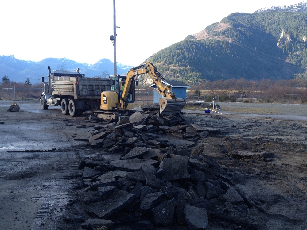 Breaking ground at CE's site in Squamish, BC.