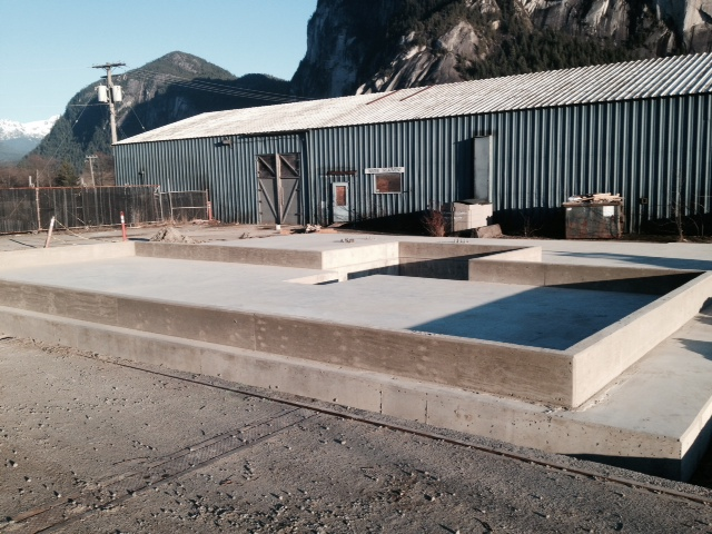 Completed air contactor foundation and pump pit - Feb 2015