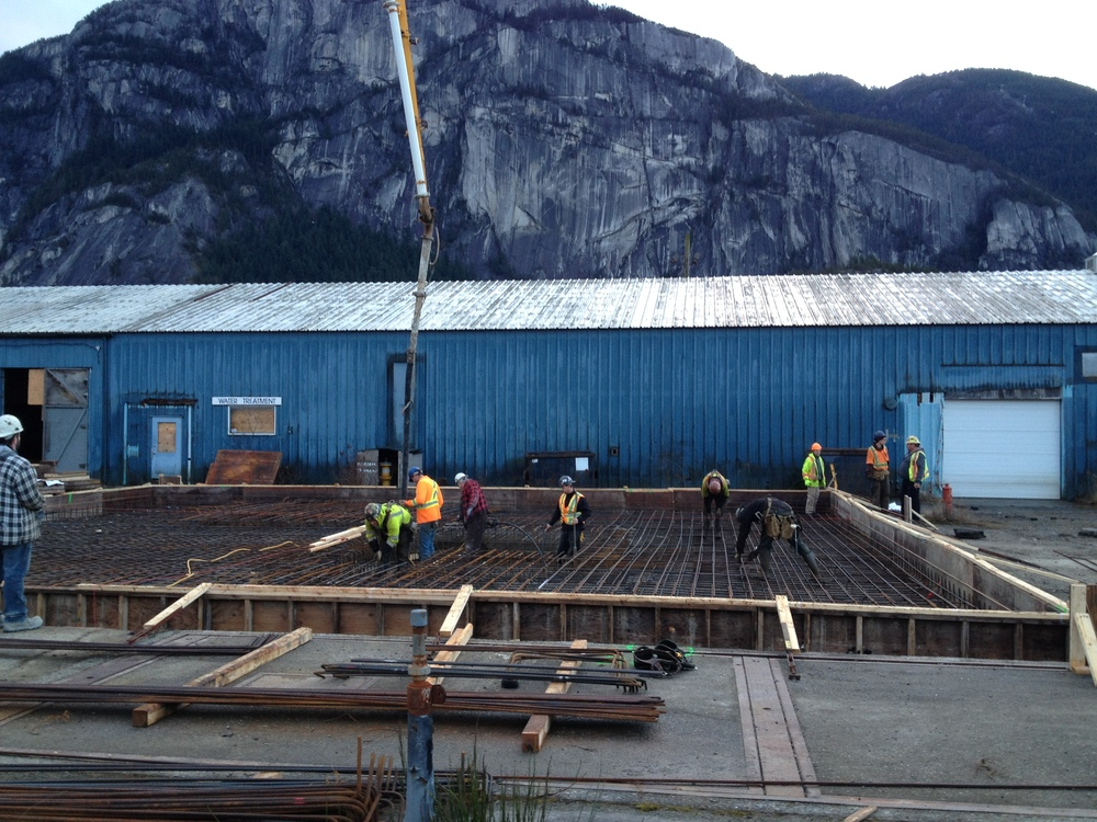 Pouring the air contactor foundation - Feb 2015