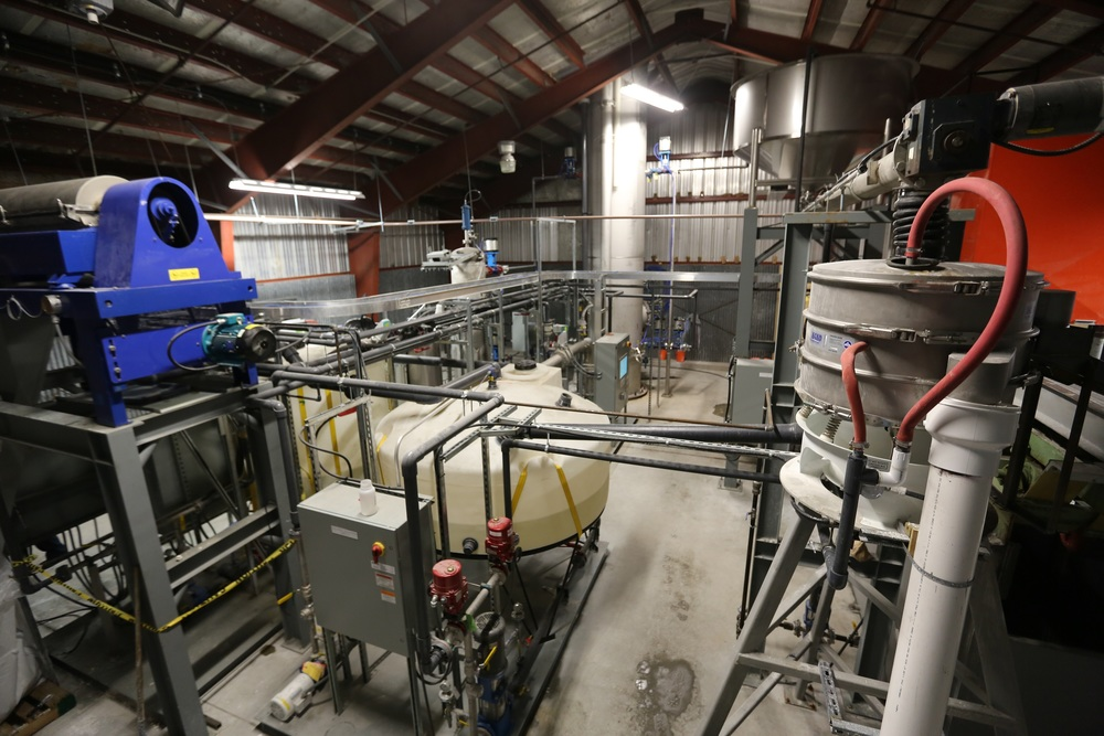Over view of pellet reactor module, washing, and drying equipment - June 2015