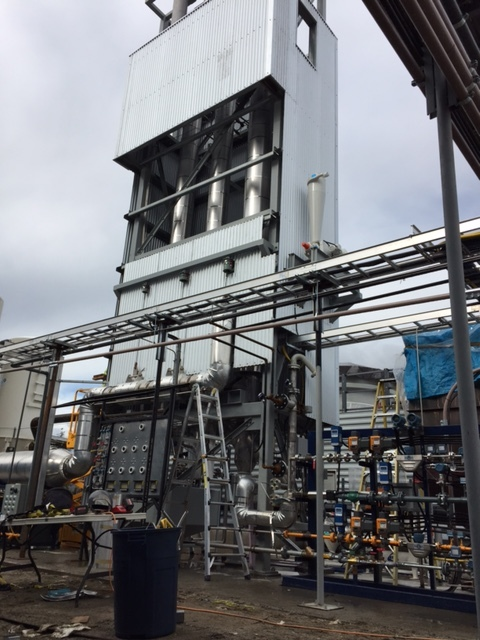 Calciner module fully installed, with cladding in place - Sept 2015