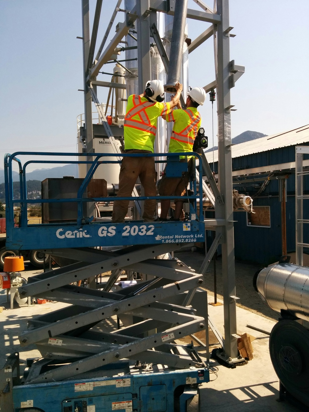 Installation work on the calciner module - Sept 2015