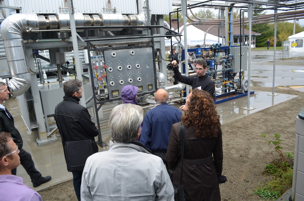 CE kick-off day, plant tour in calciner area - Oct 2015