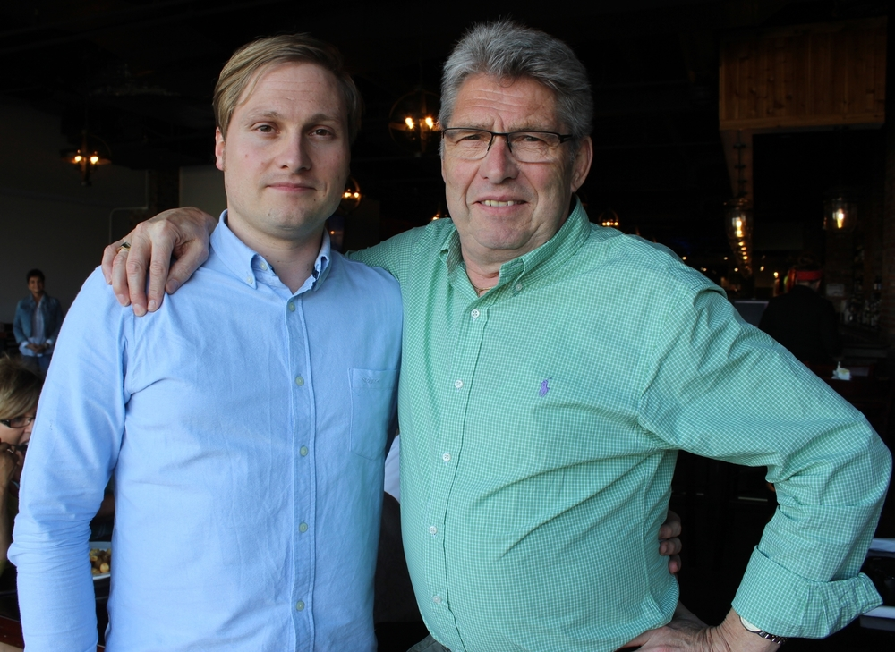 Mathias Ronsch (on the left) and his father Manfred (on the right).