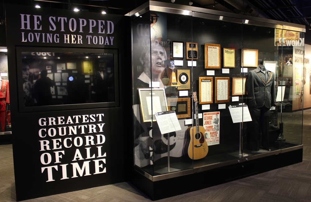 The George Jones Museum is located at 128 2nd Avenue North, Nashville, TN  georgejonesmuseum.com