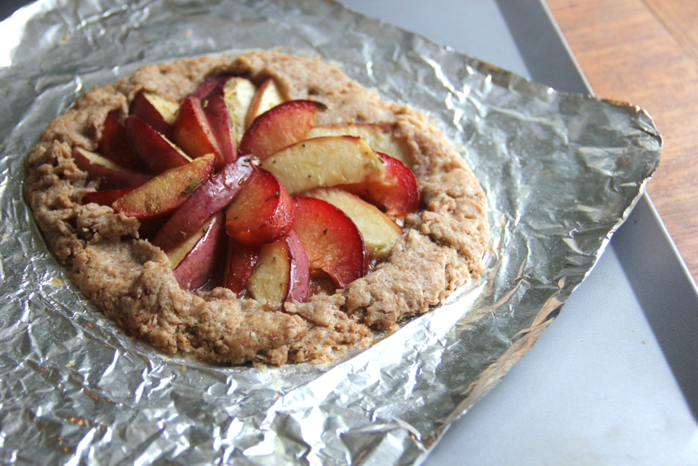 Pluot Plum and White Nectarine Galette