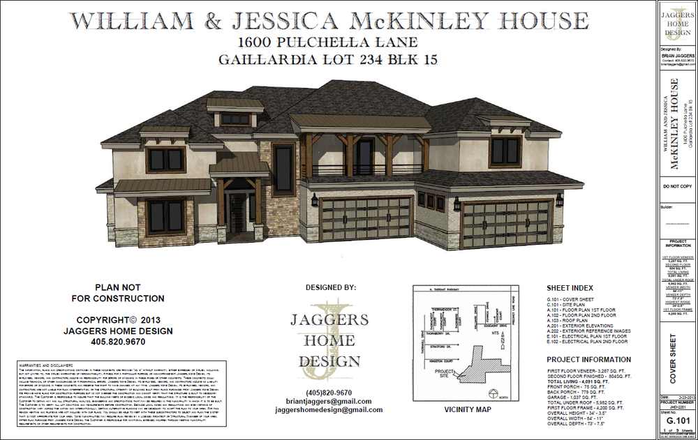 All House Plans Created By Jaggers Home Design Will Include The Following  Sheets: