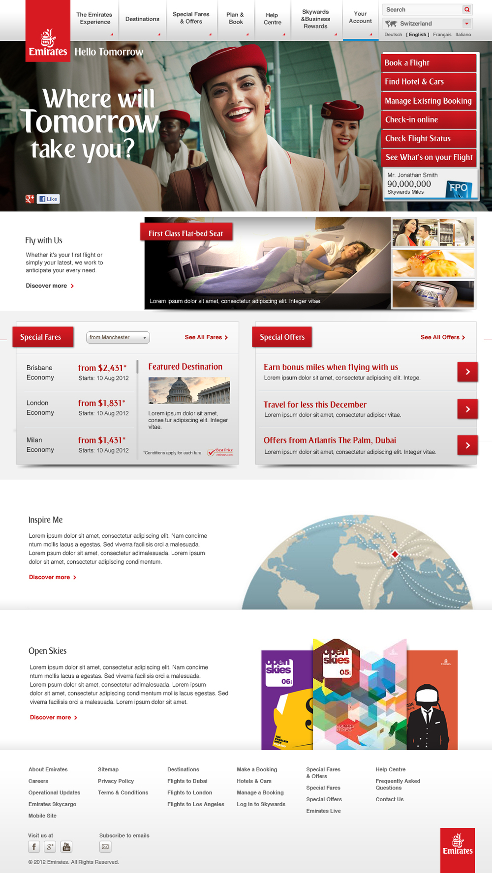 Emirates Homepage