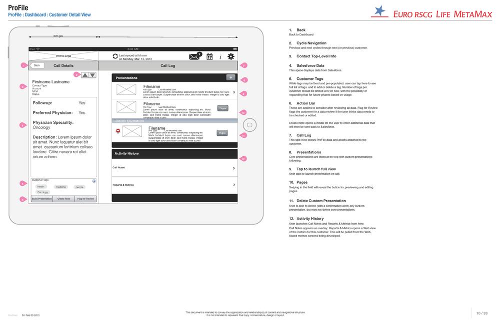 Example wire of native iPad app