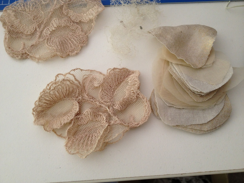 Millinery process silk  & lace flowers