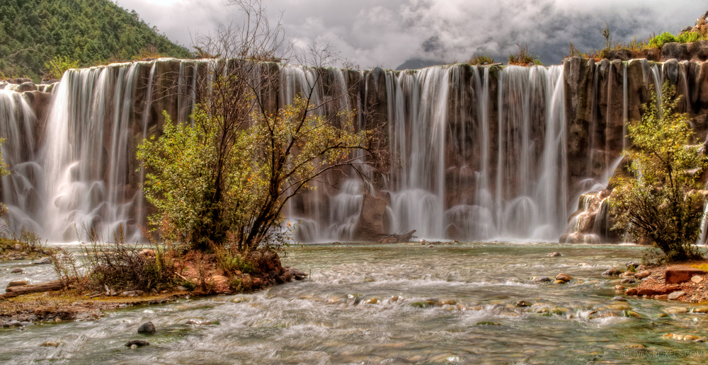 P0110-Flowing Mountain Waterfall-XLarge.jpg