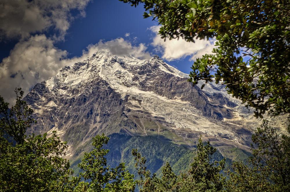 Mountain view on trail