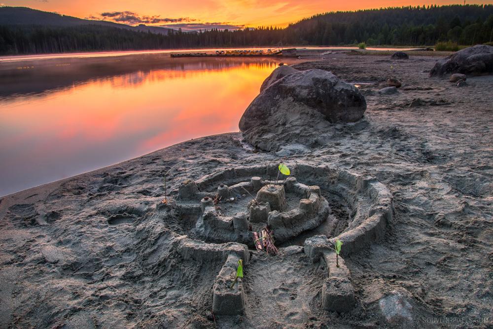Whonnock Lake Sand Castle