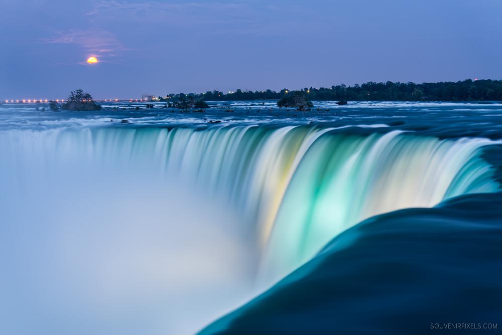 Niagara Falls Super Moon