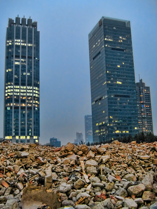 Shanghai Skyscrapers From The Rubble