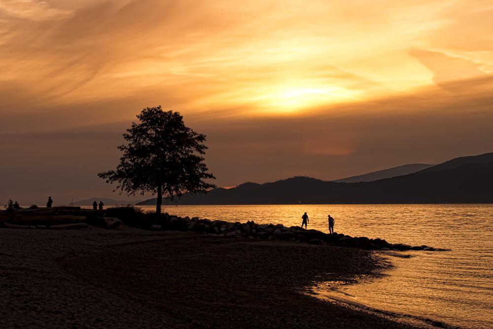 Spanish Banks Sunset Silhouette