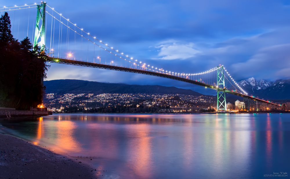 Lions Gate Bridge Just After Sunset