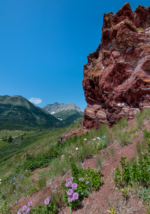 Waterton Lake Red Rocks