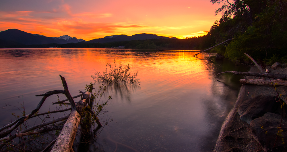 Sproat Lake Sunset