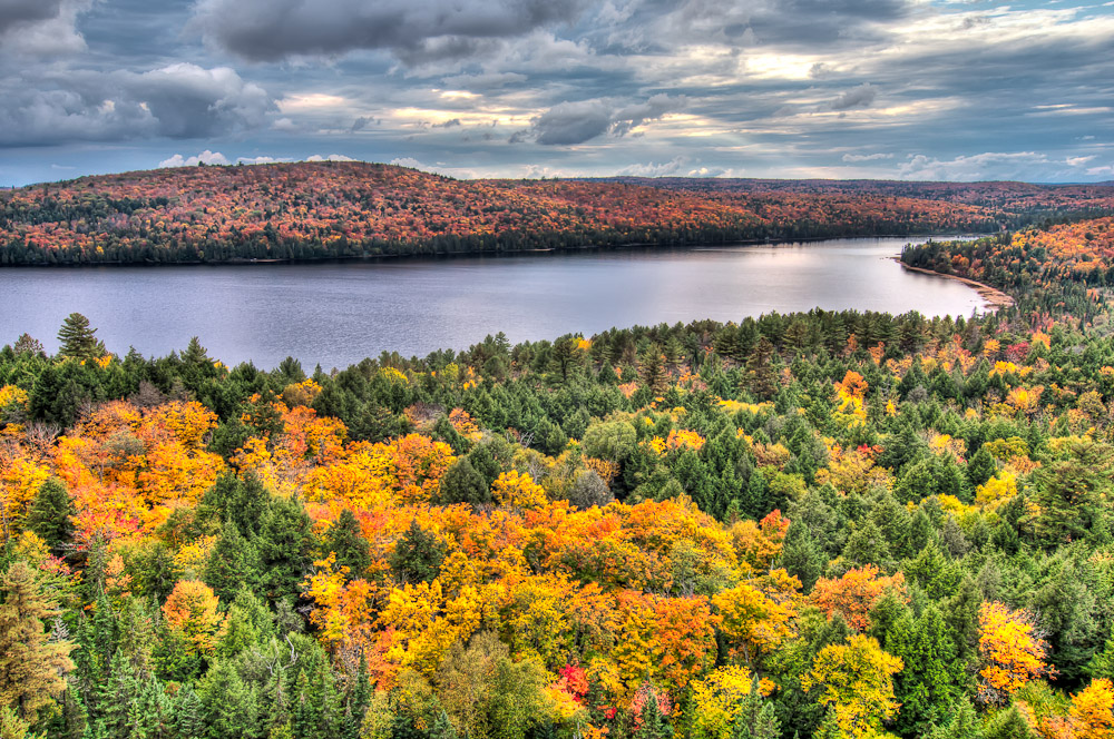 Rock Lake in Fall