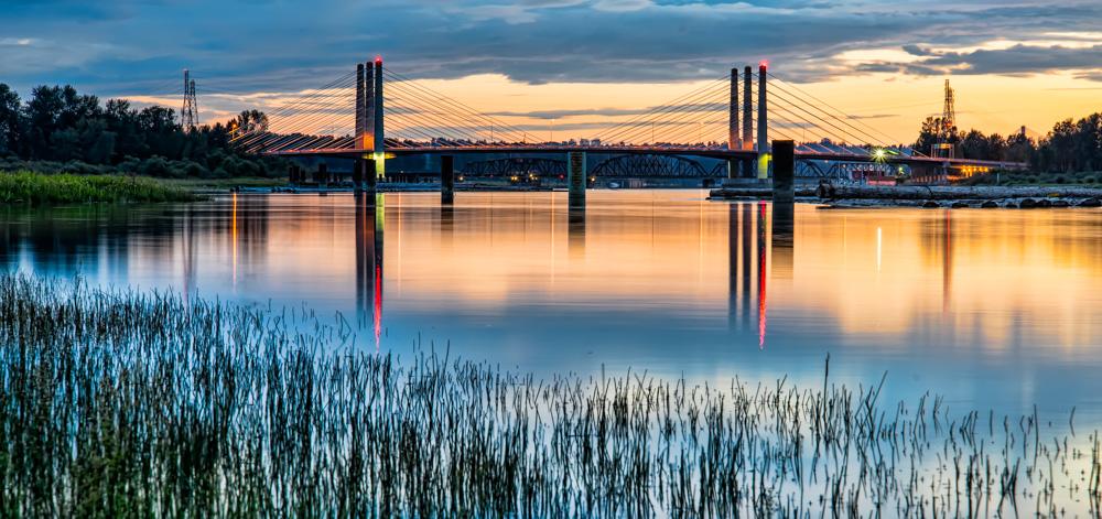 Distant Pitt River Bridge