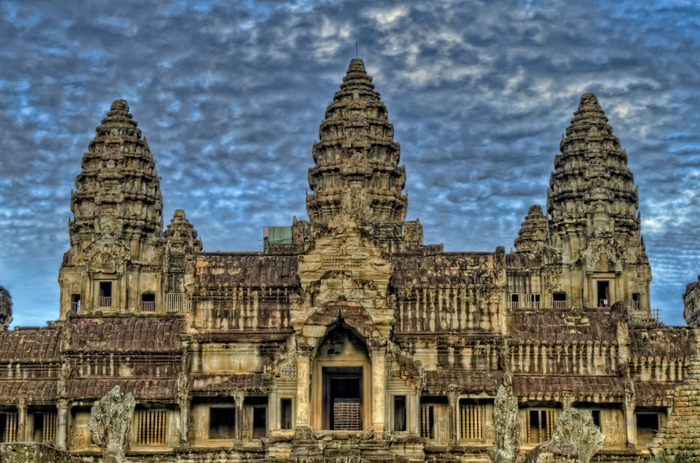 Classic angkor wat royalty free stock photo for Wat architecture